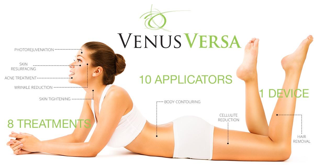 Venus Versa- 10 applicators 8 treatments from 1 device